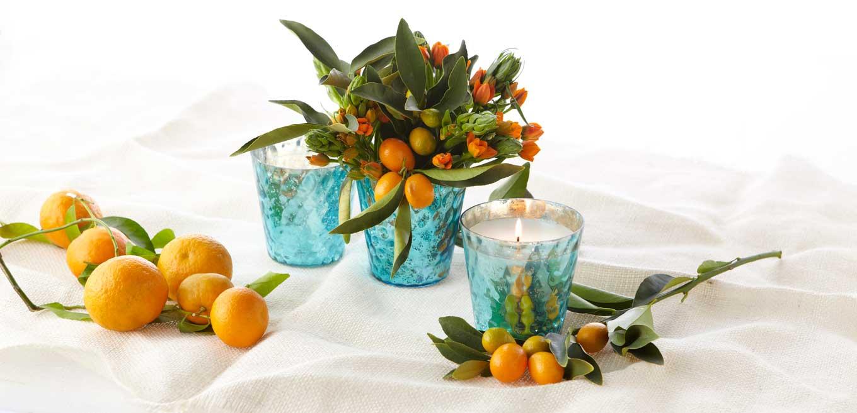 B's Knees Vase with Oranges